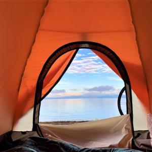 再びのビワイチ!ロードバイクで琵琶湖1周&湖畔でキャンプ!(1日目 後編 日本酒Bar masumasu→キャンプ飯)