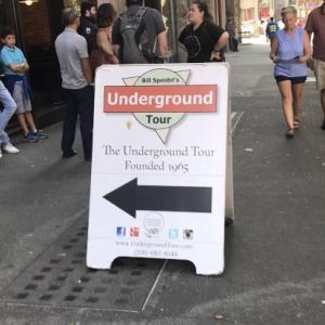 シアトルには地下の街があったらしい、、、アンダーグランドツアー!