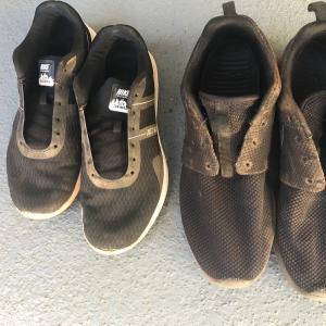 赤土は落ちても、セドナの思い出は消えない。オキシクリーンで靴洗い。