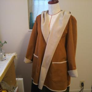 スウェードでコート作ってました