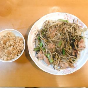 鶏肉とアスパラの黒胡椒炒め