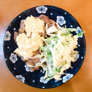 鶏モモ肉の照り焼き〜卵マヨソースがけ