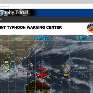 リアルタイムで台風の状況が確認できるウェブサイト