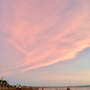 ピンクの雲とサンセット