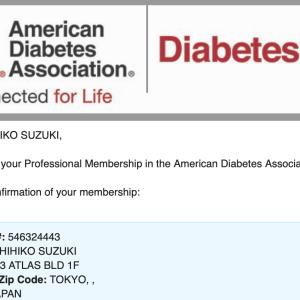 アメリカ糖尿病学会、会員証