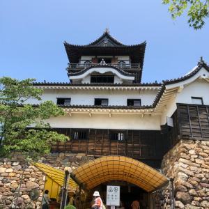母と五大国宝城  犬山城へ。