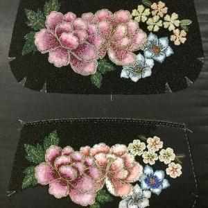 ビーズ刺繍バッグ両面画像