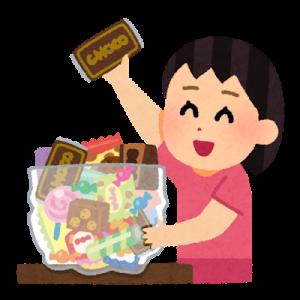 お菓子のタイミング。