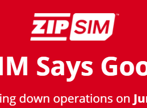 ZIP SIMがGoodbyeって言って2020年6月30日にサービス終わるってよ。