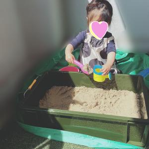 【簡単】狭いベランダに砂場を作った!【おうち遊び】