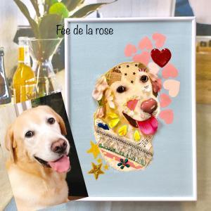 【花ぬり絵】大切な愛犬と対話が出来ますように(。・ω・。)ノ♡