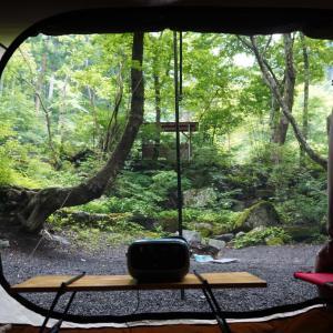 ②【キャンプレポ】道志村のネイチャーランドオムで雨の中キャンプ