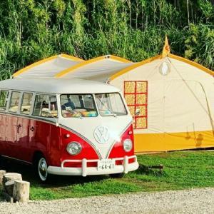念願のワーゲンバスでキャンプ・・・