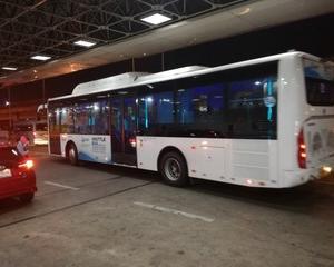 スワンナプーム空港からドンムアン空港のバスは当日の航空券がなくても無料で乗れた