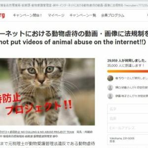インターネットにおける動物虐待の動画・画像に法規制を‼︎(Do not put videos of animal abuse on the internet‼︎)