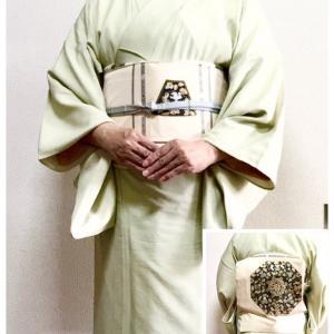 下鴨神社でお献茶式 綴れ織り 正倉院文様螺鈿の帯で