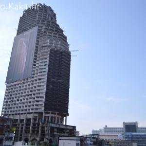 超絶巨大な手付かず廃墟ビル サトーン・ユニーク・タワー @ サパン・タクシン