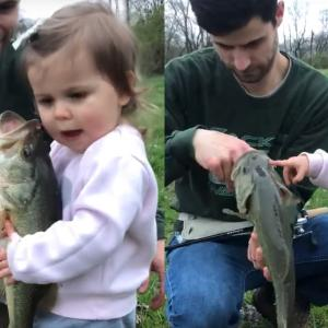 魚が大好きな女の子!バスへの愛情たっぷりな対応に胸キュン