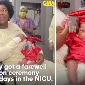 生まれた体重わずか1Kg!80日間をNICUで過ごし、ついにNICU「卒業式」を迎える赤ちゃんに、こっちまで涙腺が緩んじゃう
