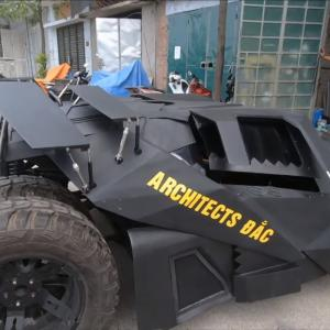 【バットマンカー】ファンにはたまらない!?ベトナムの建築学生がバットモービルを制作!