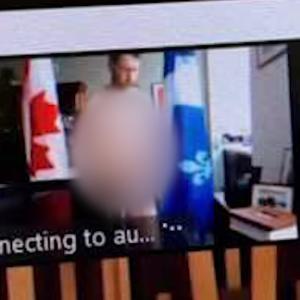 痛恨のミス!カナダ自由党の議会議員がオンライン議会中に全裸でカメラの前に…