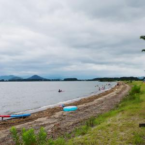 琵琶湖湖畔でまったり