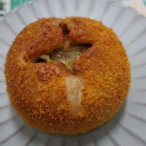会社にてスープランチ 北海道ホテルのパン