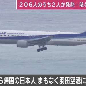 【速報】武漢を出発したチャーター機搭乗者3人が発熱と咳の症状!