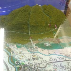前橋駅から赤城山への案内模型が構内に飾られていた・・・