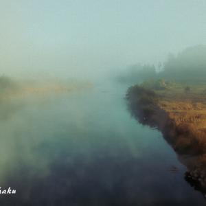 写真「EM120451-早朝の河川」