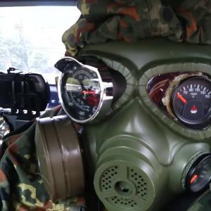 ガスマスクメーターホルダー!メーターは「見る」から「魅せる」時代へ! コペン エクスプレイ