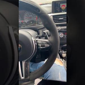 Escuchando musica en el carro#14 BMW M4😍