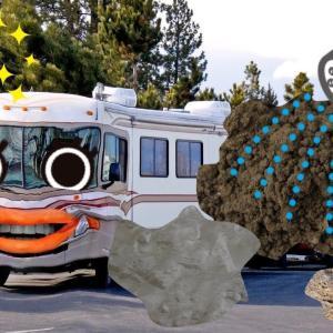 大型バス , キャンピングカー   泥 を 洗ったら 顔が いないいないばあ ! わーお !