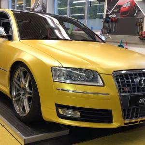 Audi S8 sunflower pwf carwrapping mcfolia Kempten
