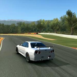 Nissan Skyline GTR V-SPEC R34 en SPA Francorchamps