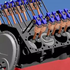 How It Works - 3D animation of a fuel injected V8 Engines