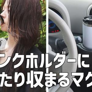 【ドライブにぴったり♪】車のドリンクホルダーにシンデレラフィットするタンブラー