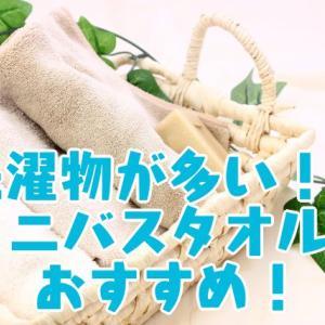 洗濯物が多い!?減らすにはミニバスタオルがおすすめ!