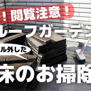 一条工務店 ルーフガーデンのWPC床をお掃除!【動画あり】