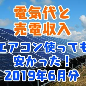 電気代と売電収入 エアコン使っても安かった! 2019年6月分