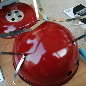 【BBQ】Weberのポータブルグリルを買ったから組み立ててみたよ