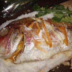 【BBQ】Wood Plank(ウッドプランク)で作る鯛の塩釜焼。今回はあやかりタイではなくて本物のタイでつくってみた。
