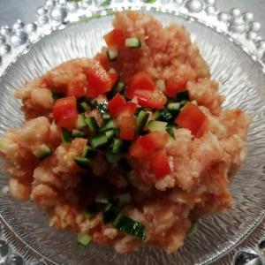 奥三河トマトで作る、食べるガスパチョシャーベットのレシピ | 暑い夏に最適なレシピ