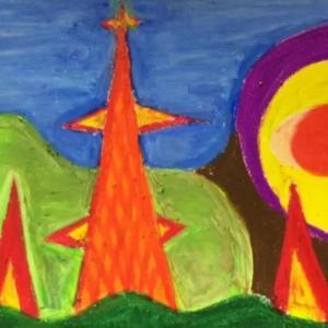 オレンジの鉄塔