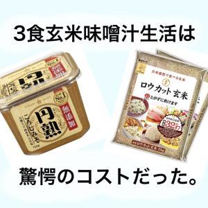 3食玄米味噌汁生活のコスパってどれくらい?