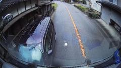 正面衝突の瞬間をドライブレコーダーがとらえていた。