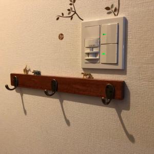本日の簡単DIY【玄関にウォールハンガー】石膏ボードでも穴が小さく強度も強く!