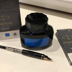 【万年筆】PARKERのウォッシャブルブルーを買ったので、コンバーターでインクを詰め替えてみた