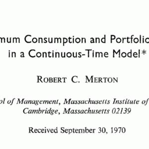 【ポートフォリオ最適化】マートン問題を数式なしで解説する。
