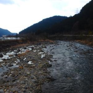 花曇りの長良川上流釣行